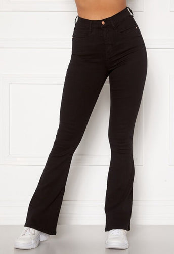 Tove High Waist Flared Jeans - Black / 34 - JEANS. 34, 36,