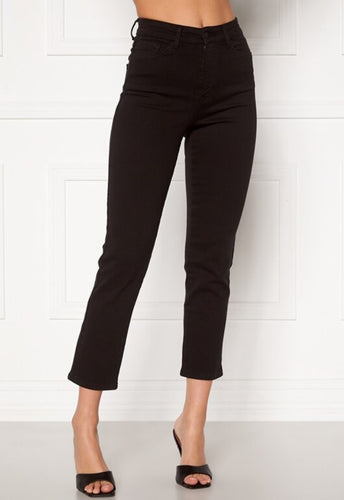 Peggy Straight Jeans - Black / 34 - JEANS 34, 36, 38, 40, 42
