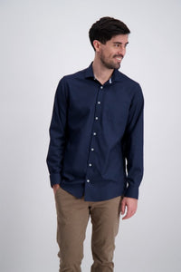 Clean Cool Shirt - Navy / S - SKJORTOR - LONG SLEEVE