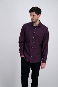Clean Cool Shirt - Burgundy / S - SKJORTOR - LONG SLEEVE