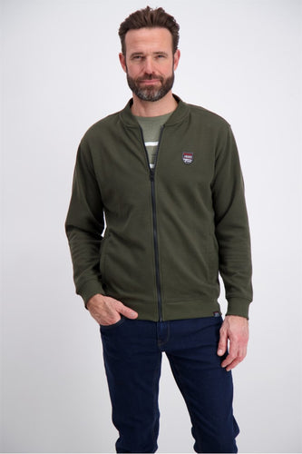 Full Zip Structure Sweat - Army / M - TRÖJA 3-710008, 3XL,