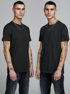 Basic Crew Neck Tee 2-Pack - Black / S - T-SHIRT HERR, JACK