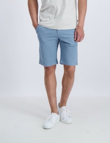 Flex Chino Shorts - Blue / M - SHORTS 3-51305, 3XL, 4XL,