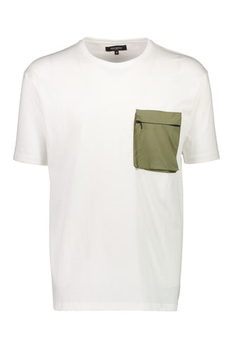 Patch Pocket Tee - Off White / S - T-SHIRT 2-450040, HERR,