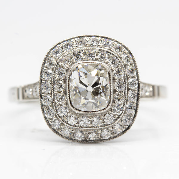 Platinum Old Cut Diamond Engagement Ring