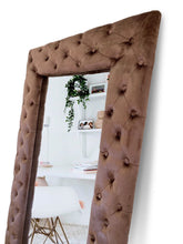 Load image into Gallery viewer, Brown velvet mirror