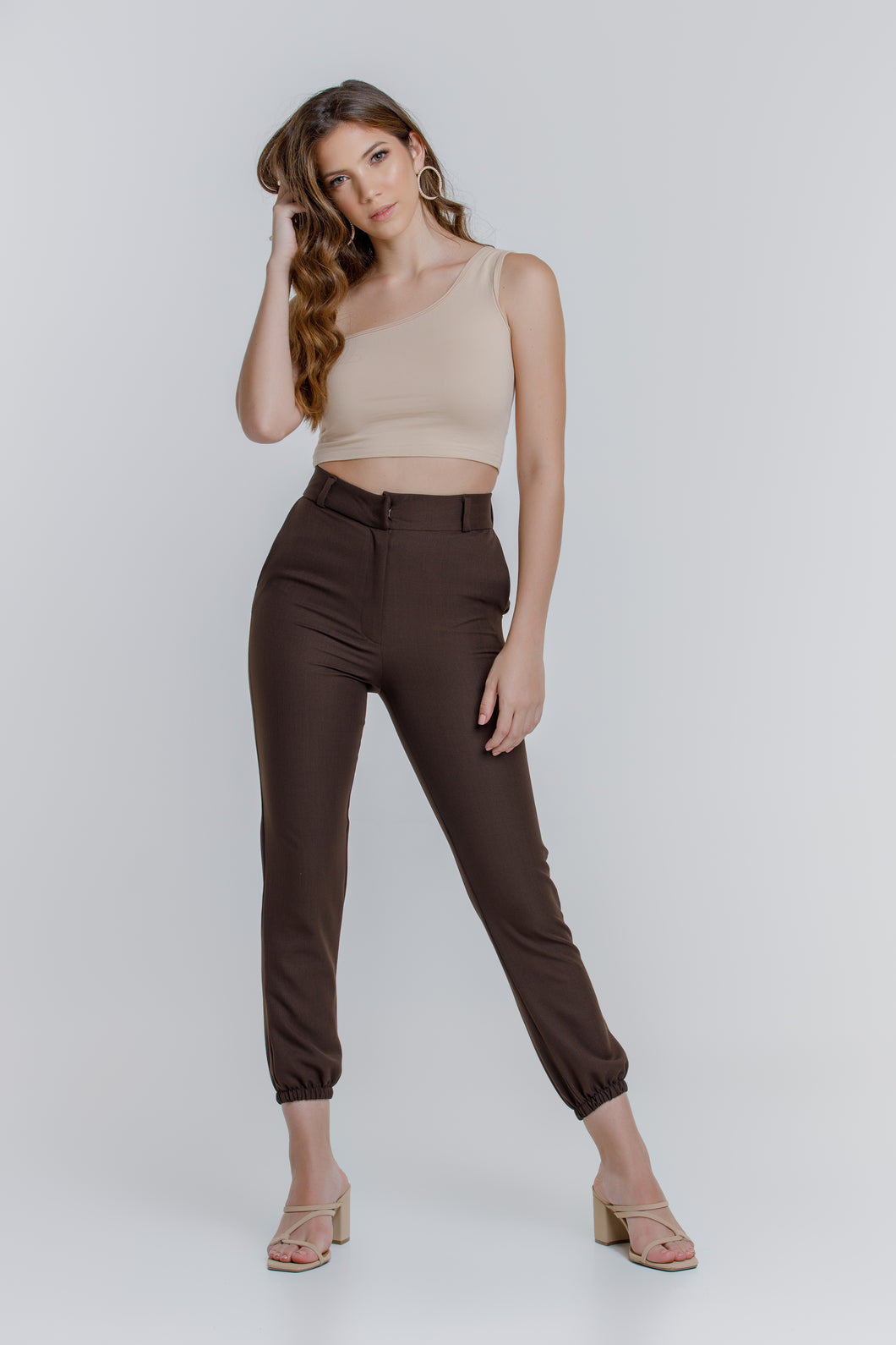 Dark brown alberta pant