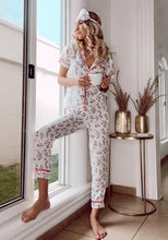 Load image into Gallery viewer, Top and pant pajama printed set