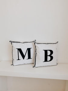 Personalized letter pillow