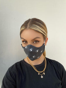Black eyes protective face mask