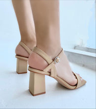 Load image into Gallery viewer, Camila 1 strap square heel sandals