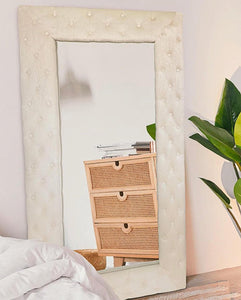 Velvet light beige mirror