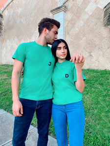 Green Yellow T-shirts with Initials