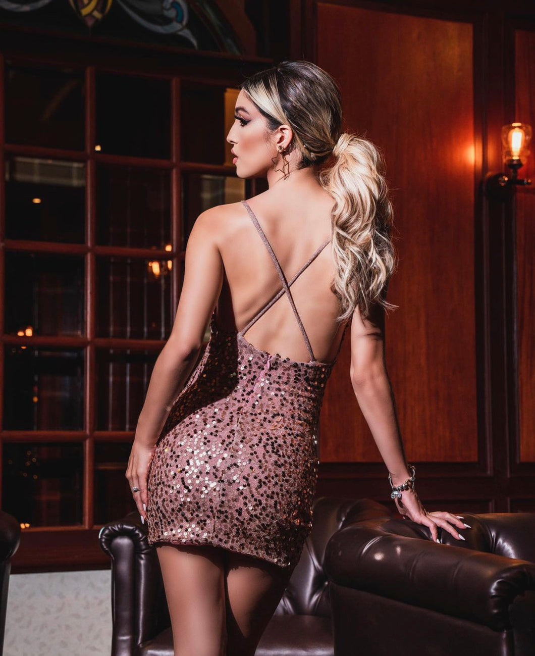RoseGold Sequin Dress