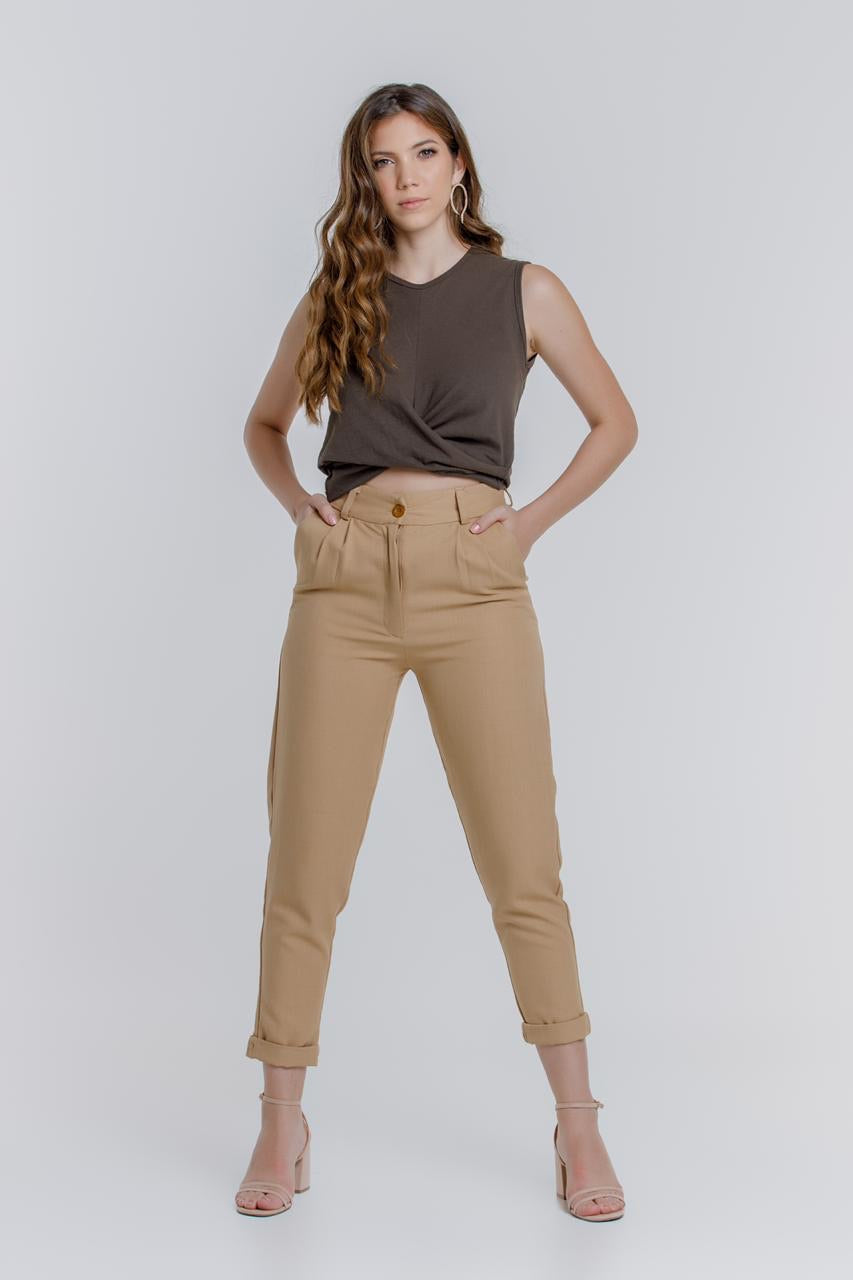 Crossover brown top