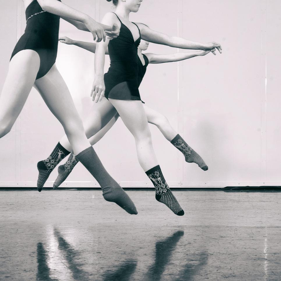 ballerinas in socks | lisa b. loves