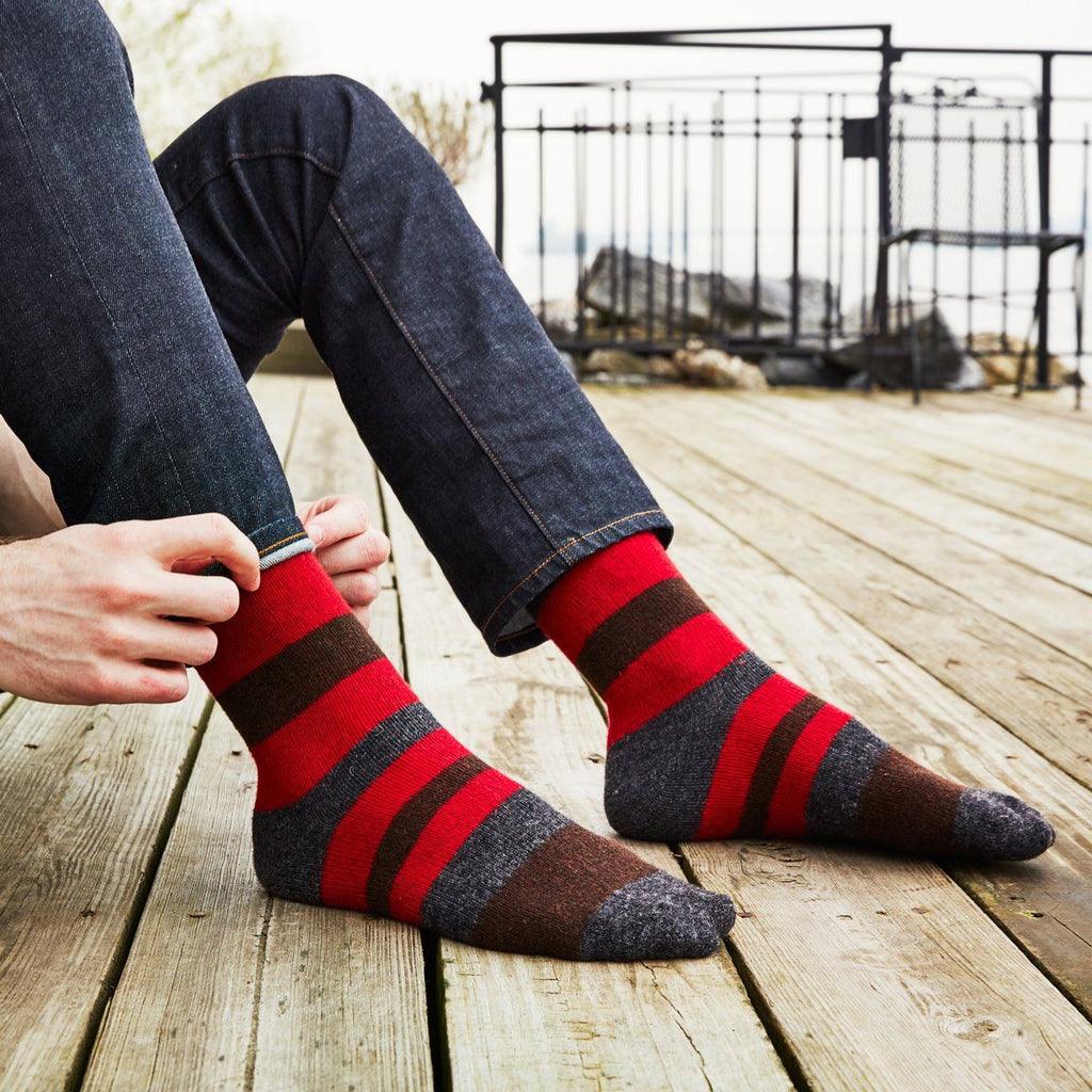 men's wool cashmere socks