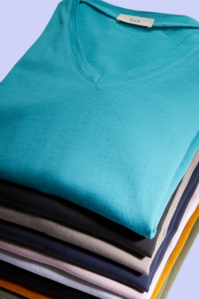 lisa b. cotton tees - made in Los Angeles from 100% cotton, garment-dyed