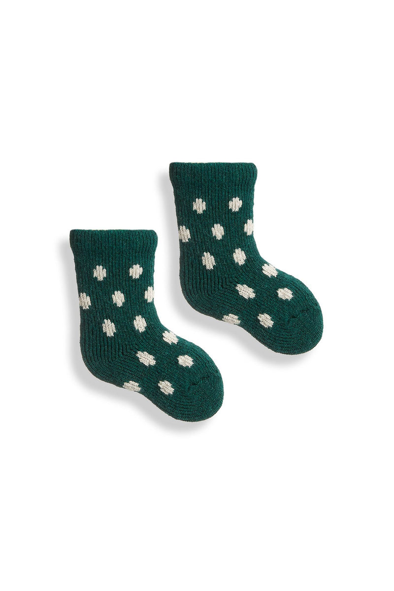 emerald baby classic dot wool cashmere socks