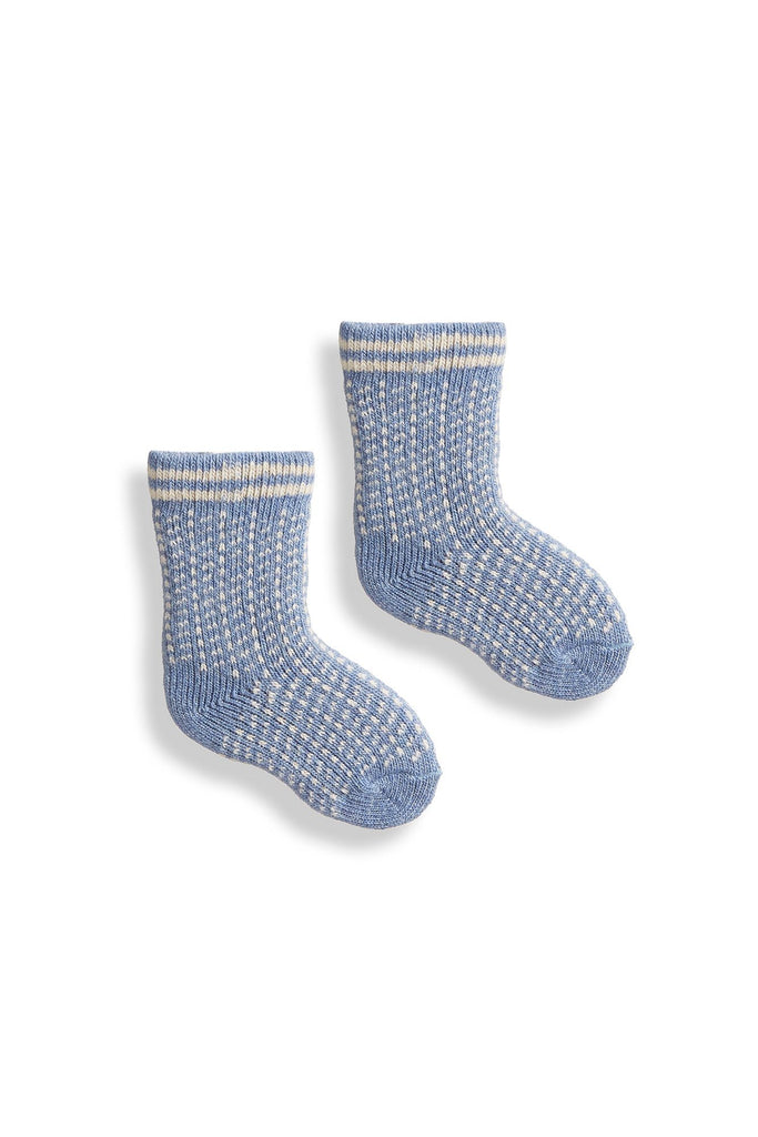 chambray, light blue baby nordic birdseye wool cashmere socks