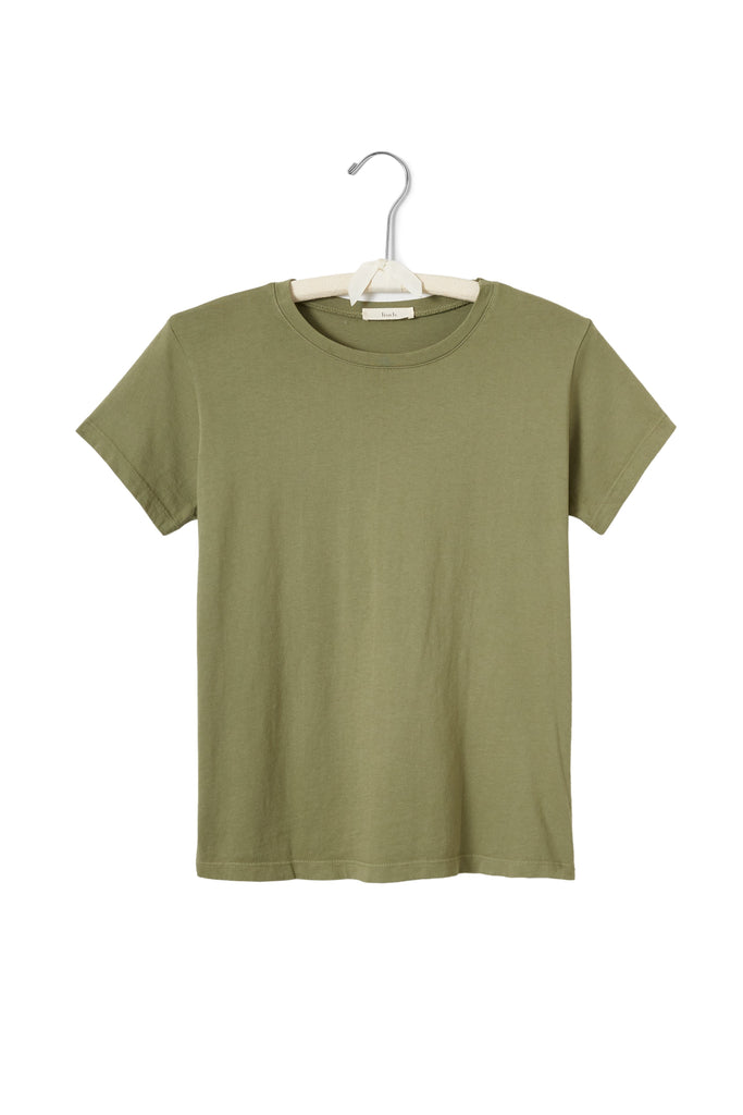 women's cotton crew neck t-shirt in sargent