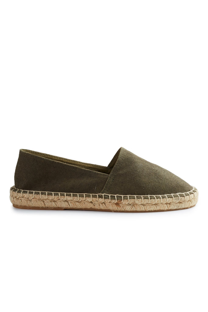 women's cotton pique classic espadrille in olive