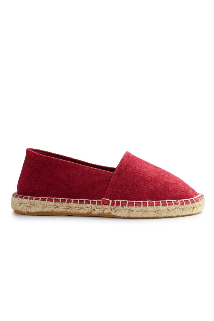 women's cotton pique classic espadrille in red