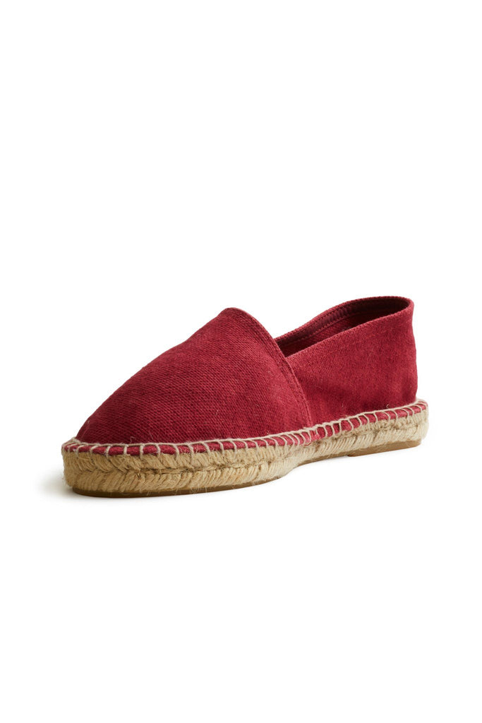 men's cotton pique classic espadrille in red
