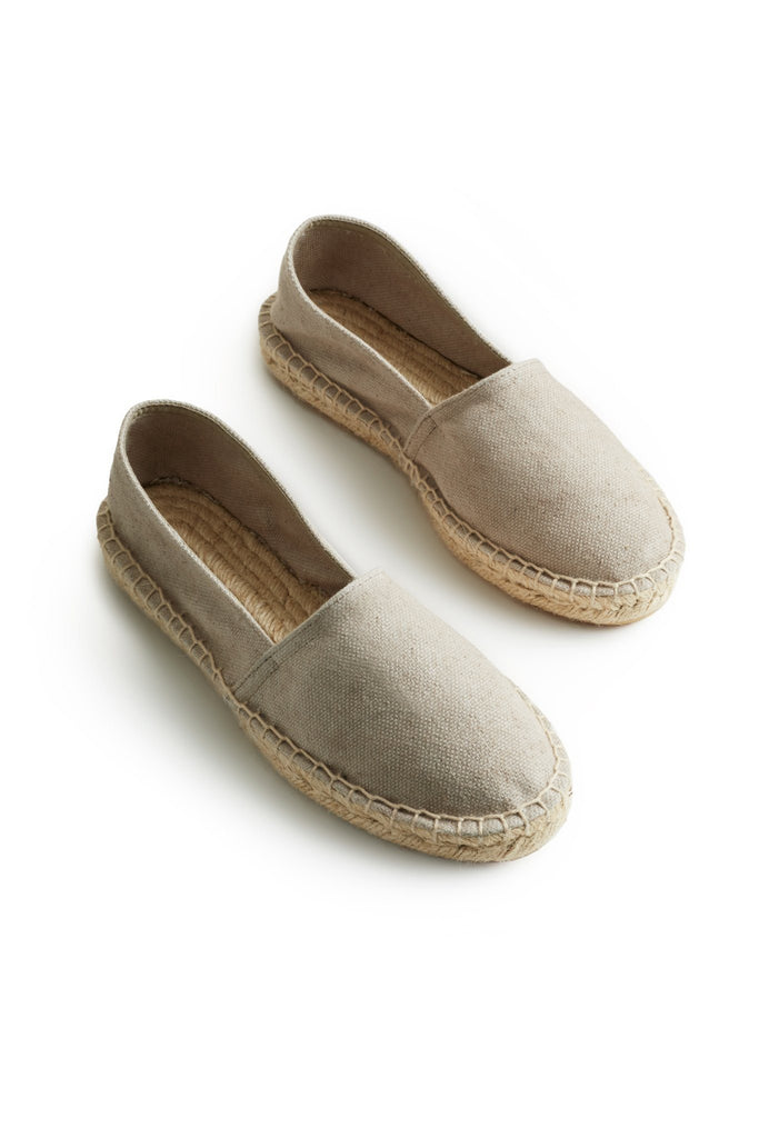 men's classic espadrille sand cotton pique upper, jute and rubber sole