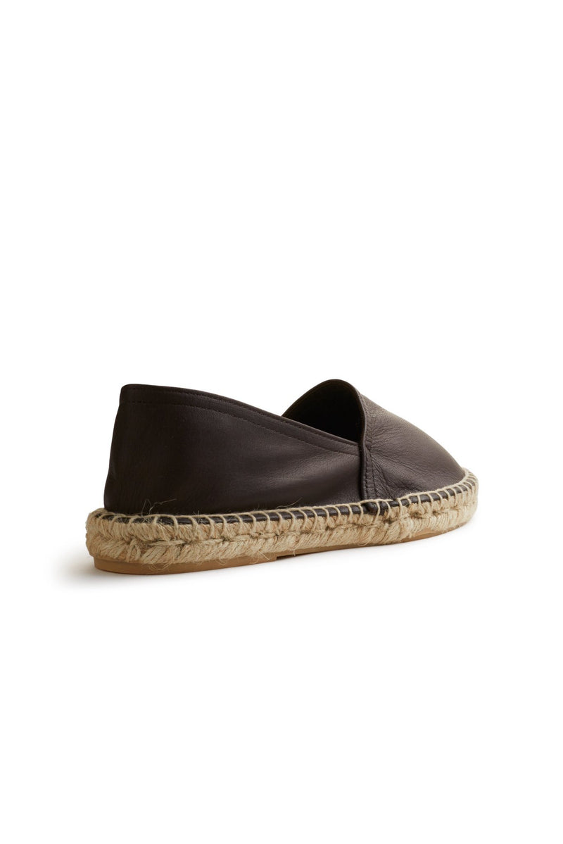 classic espadrille in dark brown