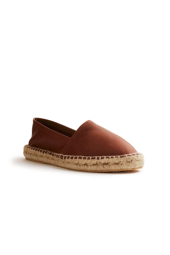 women's leather classic espadrille in tan