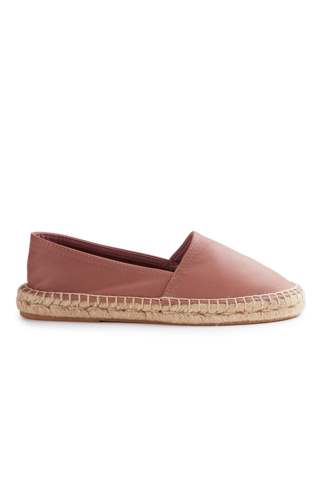 women's leather classic espadrille in vintage rose