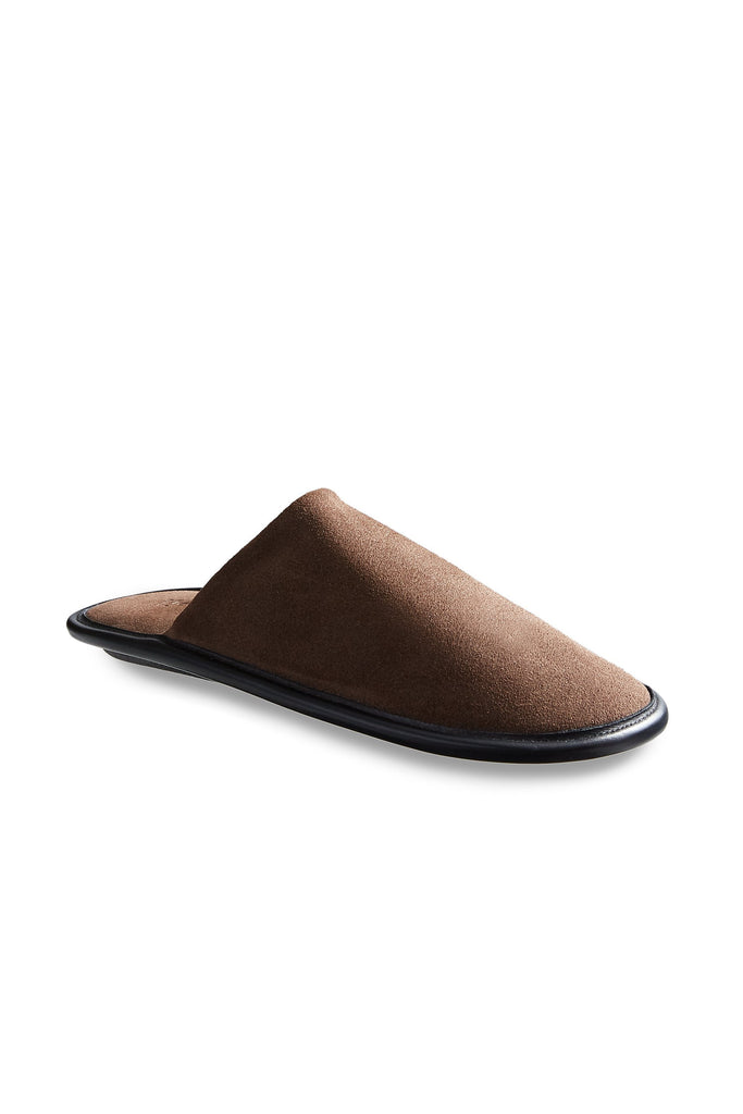 men's moka suede slippers