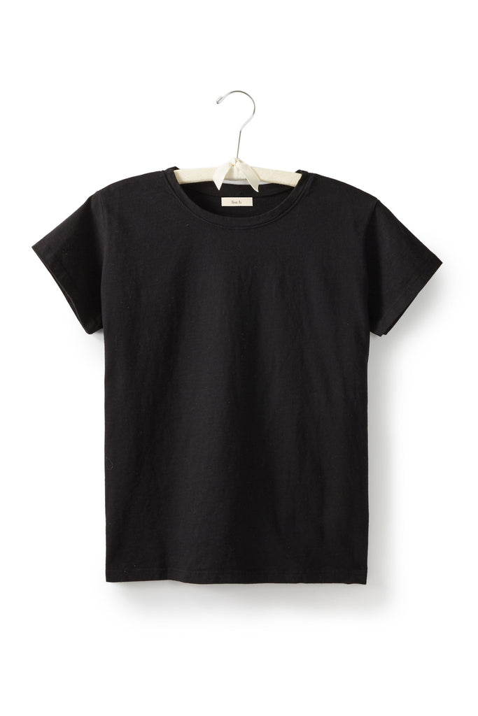 women's cotton crew neck t-shirt in black