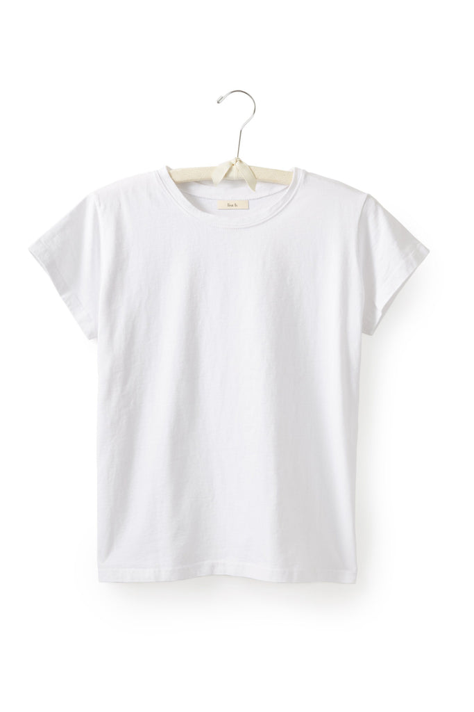 women's cotton crew neck t-shirt in white