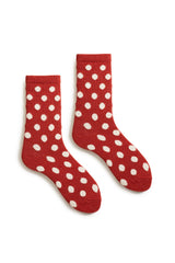 women's spice classic dot wool and cashmere crew length socks