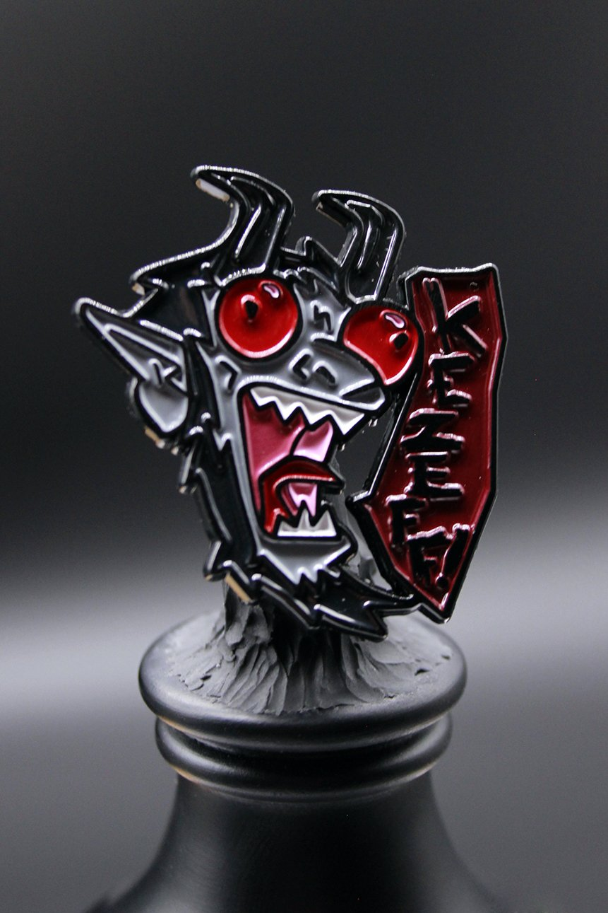 photo of front side of limited edition Krampus pin
