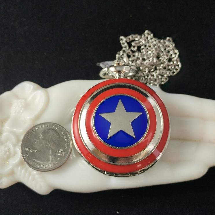 photo of captain america pocketwatch front cover