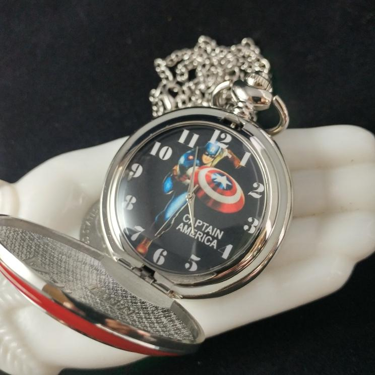 photo of captain america pocketwatch inside