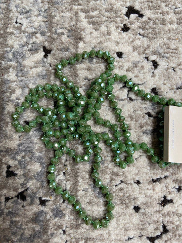 Light Olive Green Beaded Necklace