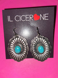 Concho Turquoise Earrings