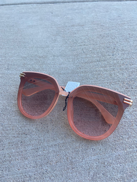 Round Gold Side Sunglasses