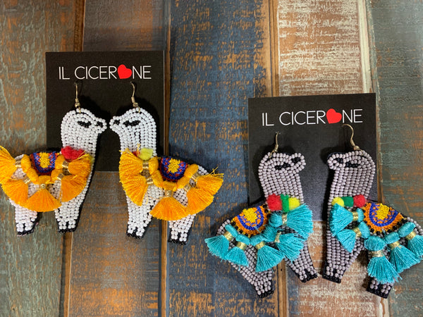Llama Beaded Earrings