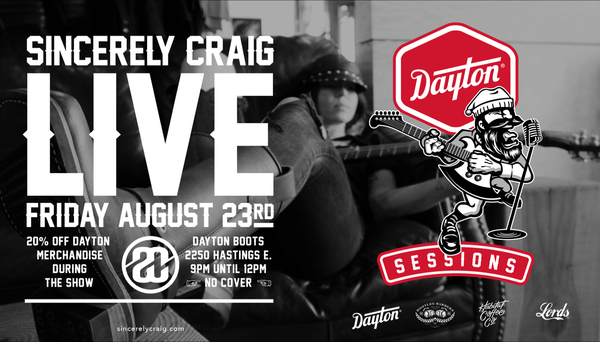 Dayton Sessions: Sincerely Craig in live concert at Dayton Boots