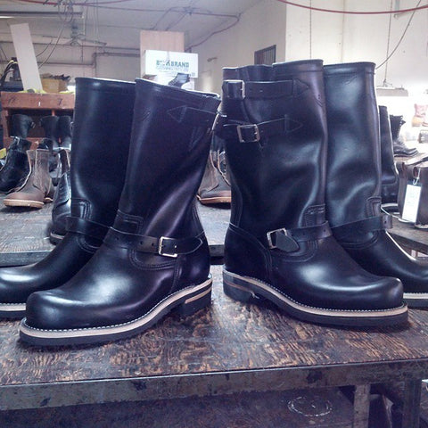 Engineer Boots ready for finishing.