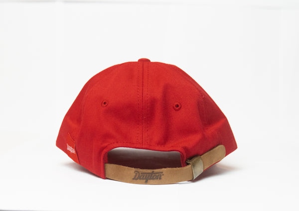 Dayton Script Strap Cap - White on Red