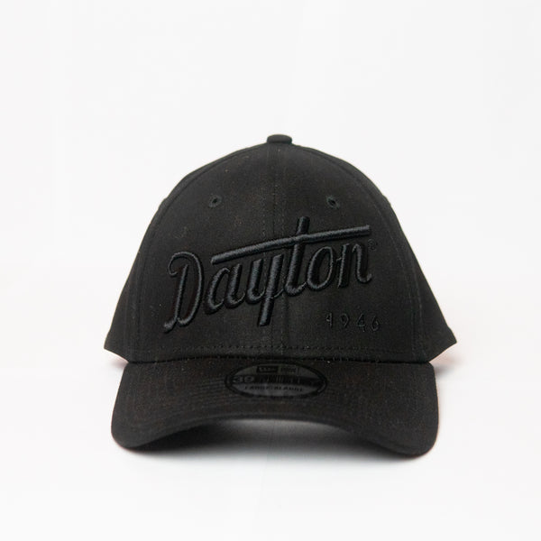 Dayton Script Fitted Cap - Black on Black