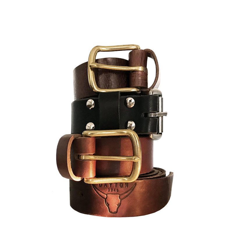 Leather Belt Narrow with Buckle