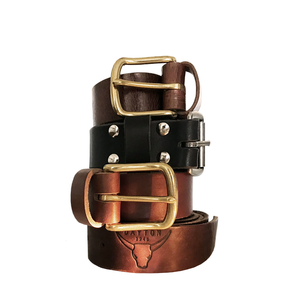 Leather Belt Wide with Buckle