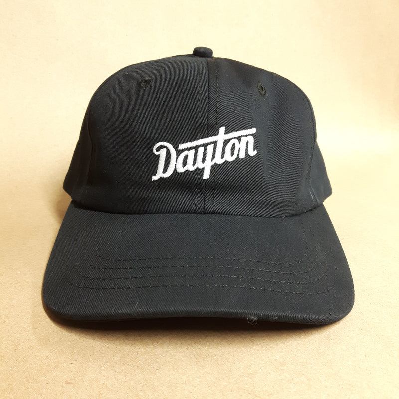 Dayton Script Strap Cap - White on Black